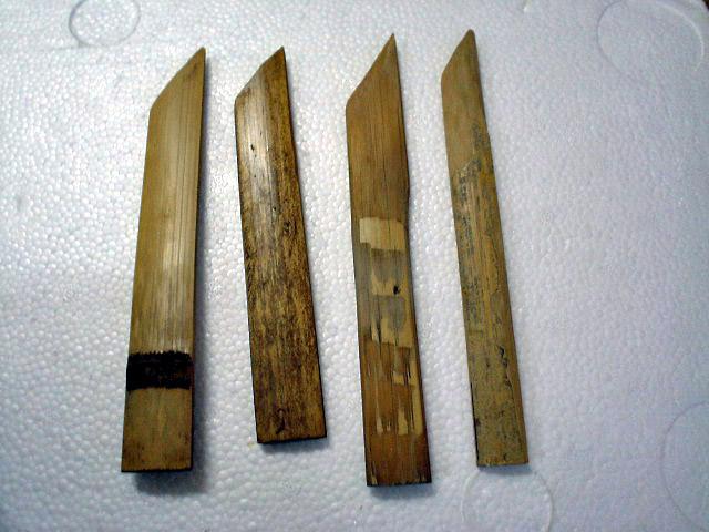 生姜を削る竹べら